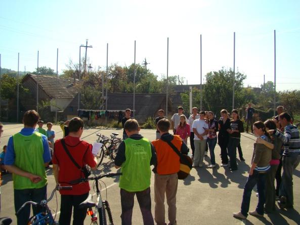 Cu tinerii pe stadion