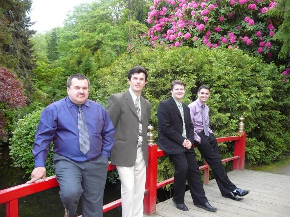 """Cvartetul de bărbaţi """"Ierihon"""" din Renton, SUA."""