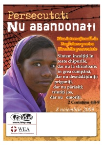 Afiş ziua mondială de rugăciune